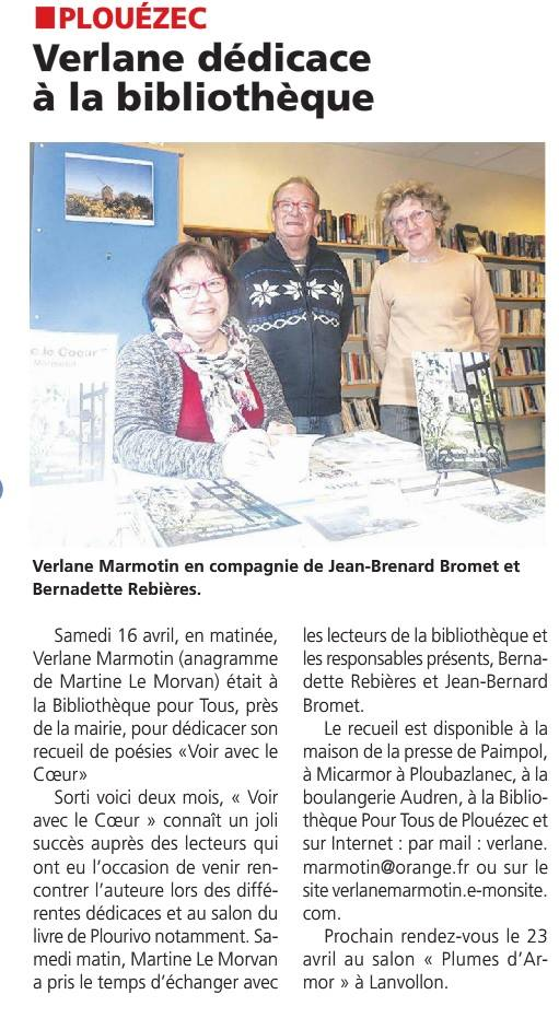 2016 04 16 dedicace bibliotheque plouezec